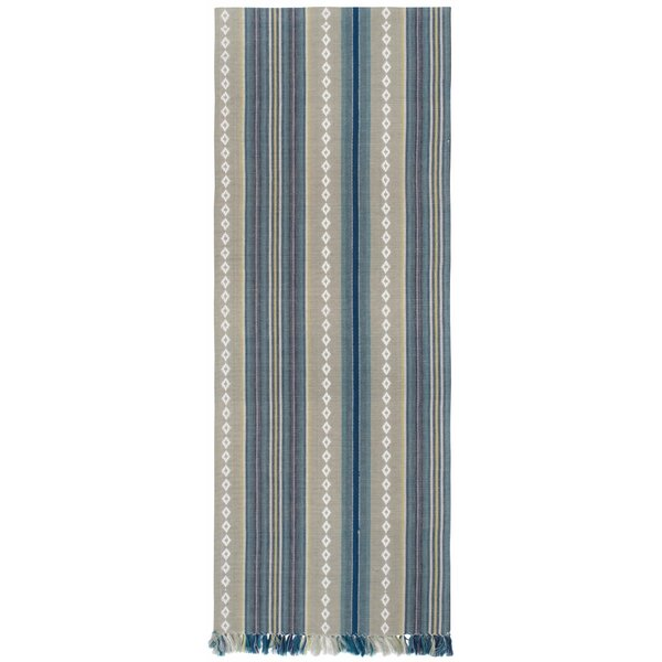 Key Largo 100% Cotton Striped Table Runner (Set of 2) by Rosecliff Heights